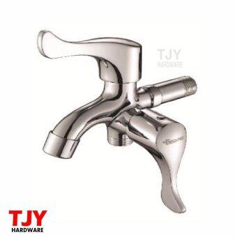 Harga High Quality FANSKI 2 Way Water Tap Stainless Steel Faucet Wall Mounted + Warranty + Freebie Water Tape
