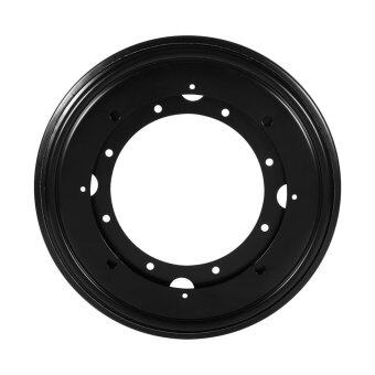 Harga Heavy Duty Round Galvanized Lazy Susan Turntable Bearing Rotating Swivel Plate (Black)
