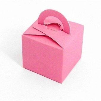 Harga 10 Pcs 2016 Wedding Favor Holders Gift Favor Boxes Candy Color Chocolate Bags Square Paper Packing Bags (Pink)