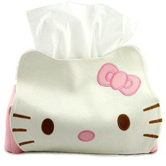 Harga ilovebaby Cute Pink Cat Car Room Tissue Storage Box Cover Holder