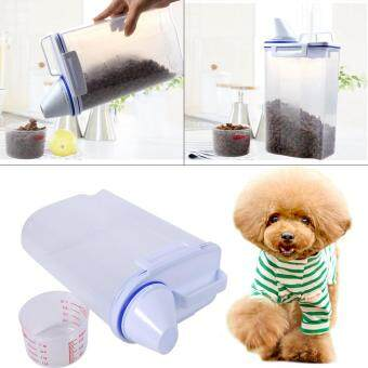 Harga Pet Food Storage Containers Set Dog Cat Dry Food Dispenser Easy Pour With Cup Pet Supplies