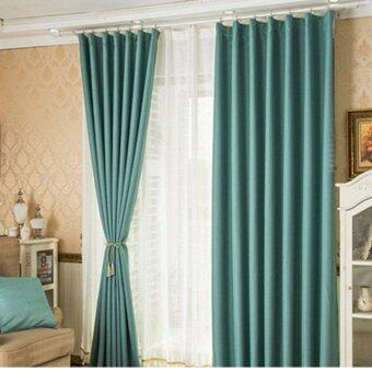 Harga 2 Pcs Set - Extra Thick Block out Elegant Curtain - 150 x 270 cm - French pleat - Free curtain Hooks & rope