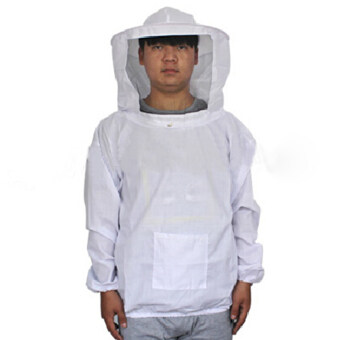 Harga Beekeeping Jacket and Veil Bee Smock Equip Professional Protective Suit Beekeeper Workwear Safety Clothing White