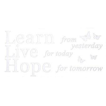 Harga Learn Live Hope Wall Quote Vinyl Decal Sticker Decor Living Room Love Art Mural