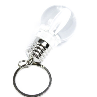 Harga Clear LED Light Lamp Bulb Keychain Silver
