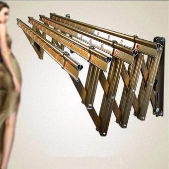 Harga Retractable Aluminum Stainless Steel Cloth Hanger / Drying Rack - 4 Tube x 1.5 Meter