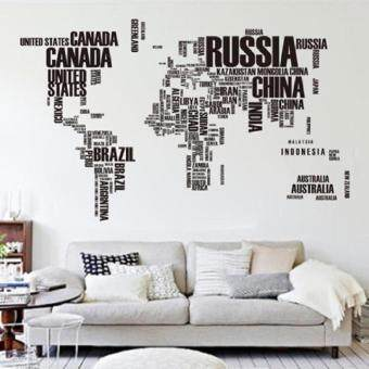 Harga you deserve it Letter World Map Quote Wall Stickers