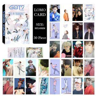 Harga GOT7 FLY Album Kpop LOMO Cards New Fashion Self Made Paper Photo Card HD Photocard LK351