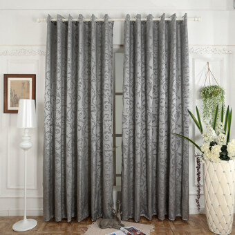 Harga 1 pcs 100x270 Luxury design door bedroom curtain drape semi-blackout window blinds for balcony grey