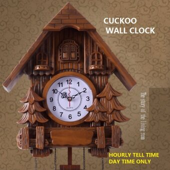 Harga cuckoo clock Fashion children living room wall clock 16inch alarm clock quality swing pocket watch modern brief