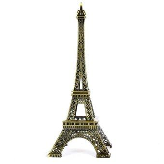 Harga France Paris Eiffel Tower Statue Figurine Vintage Alloy Decor (38cm)