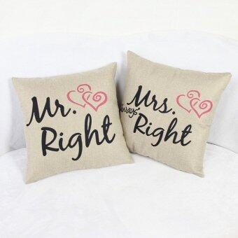 Harga New Valentine Mrs Mr Linen Pillow Cover