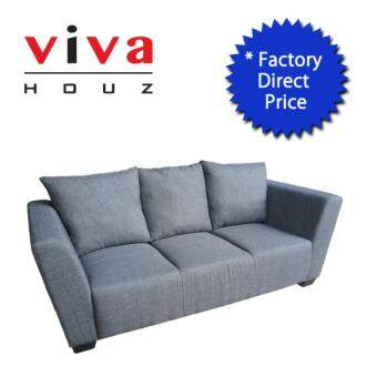 Harga VIVA HOUZ LATINA SOFA 3 SEATER (GREY) MADE IN MALAYSIA