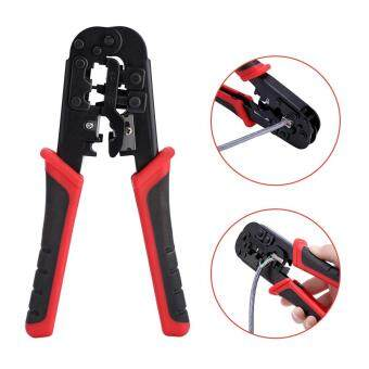 Harga Network Cable Cutting Stripping Crimper Crimping Tool RJ45 RJ12 RJ11 8P/6P/4P Connectors