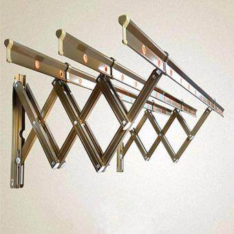 Harga Retractable Aluminum Stainless Steel Cloth Hanger / Drying Rack