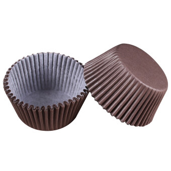 Harga 100 pcs/lot Cooking Tools Grease-proof Paper Cup Cake Liners Baking Cup Muffin Kitchen Cupcake Cases Cake Mold #20&brown