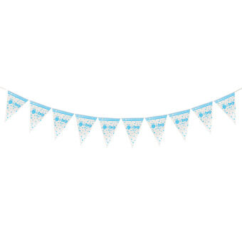 Harga Little Baby Paper Flag Pennant Bunting Banner Birthday Party Hanging Decoration Baby Boy NEW