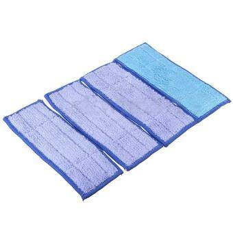Harga AC Blue 4Pcs Washable Wet Mopping Pads Replacment Damp & Dry for iRobot Braava Jet 240