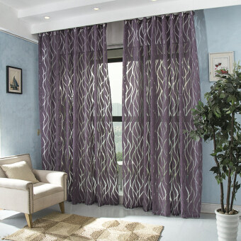 Harga 1 pcs Modern curtain 3d bedroom fabric window decoration fabrics ready made curtain purple