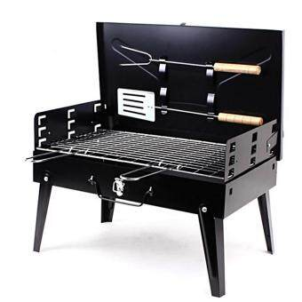 Harga Foldable Barbecue Briefcase Style Folding Barbecue Grill Toaster Barbeque