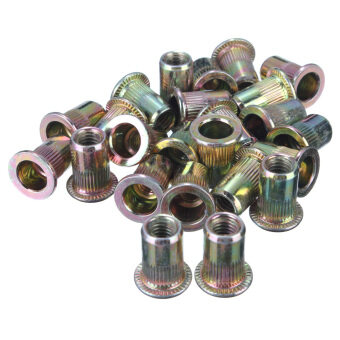 Harga Threaded Carbon Steel Rivet Nut Rivnut Inserts M4. M5. M6. M8. 100 Mixed Pack