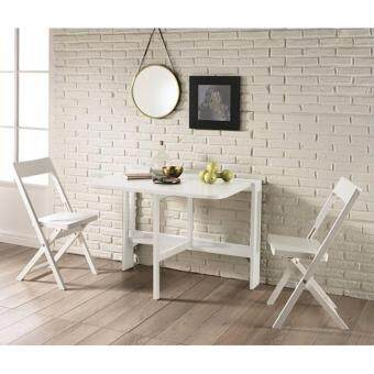 Harga Interbuild FLAT Medium Wall Table (1 Table & 2 Chairs) (White)