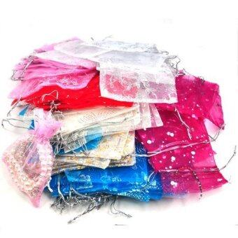 Harga 100 Mixed Organza Wedding Favor Gift Bags Jewellery Pouch 13cm X 10cm