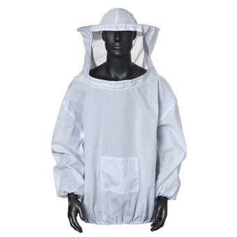 Harga Protective Beekeeping Jacket Veil Dress With Hat Equip Suit Smock White