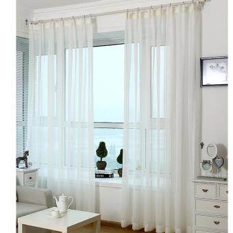 Harga 1 piece set - Premium Ultra Soft White Sheer Curtain - Free Curtain hooks