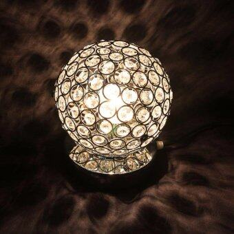 Harga Modern Luxurious Chrome Crystal Table Lamp Bedroom Light Bedside Lamp Ball Table Lamp Night Light