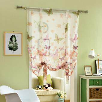 Harga 1 PCS 100X160 Kitchen jacquard modern window panel tulle curtain