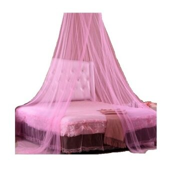 Harga Delux Hanging Dome Insect Mosquito Repeller Net for Home Garden Camp - Pink