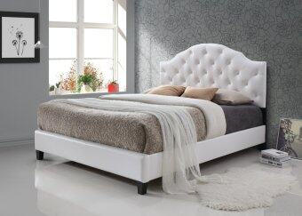 Harga Infinity Bed Series INFI-2840(A) Queen Size Bed Frame ( PU White )