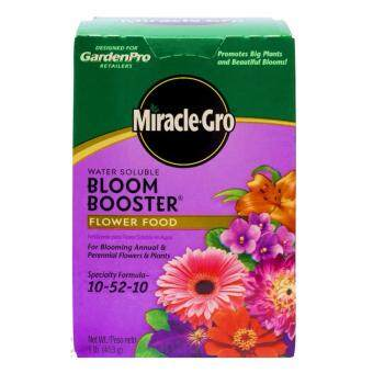 Harga Miracle-Gro Water Soluble Bloom Booster Flower Food, 10-52-10, 1lb (453 g) - Imported From USA (Set of 2)