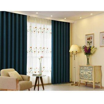 Harga 2 Pcs Set - Extra Thick Elegant Curtain - 200 x 270 cm - French pleat - Free curtain Hooks & rope