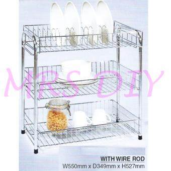 Harga MRS DIY PLATE RACK - 3 TIER (CHROME)