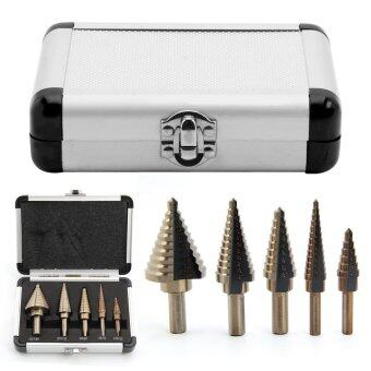 Harga 5-Piece 10197A Metric Step Drill Set HSS Cobalt Multiple Hole 50 Sizes 1/4-Inch and 3/8-Inch Shanks, SAE, w/Aluminum Case