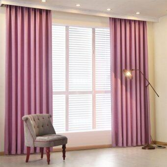 Harga 2 PCS 150x260 Plain dyed bedroom blackout window curtain