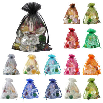 Harga 100 pcs Sheer Organza Wedding Party Favor Decoration Gift Candy Bags 10*12