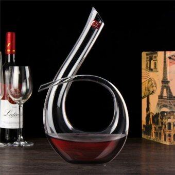 Harga Luxurious Crystal Glass 6 Shape Wine Decanter Wine Pourer Red Wine Carafe 1200ml