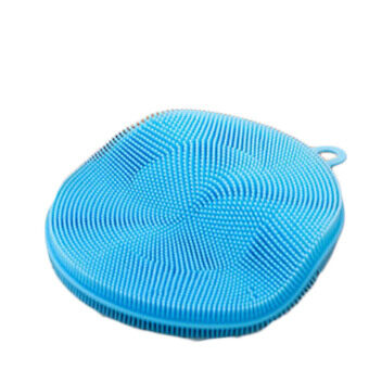 Harga Fancyqube NEW Silicone Dish Washing Sponge Scrubber Cleaning Antibacterial Kitchen Tools Color Random