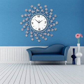 Harga Luxurious Wall Clocks Living Room Decorative Modern Style (White)