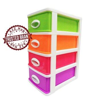 Harga Lava DW5914 Plastic Multicolored 4 Tier Drawer