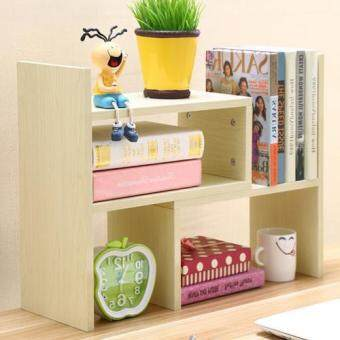Harga YN028 Creative Desktop Table Shelves / Bookcase / Decorative Shelves (White Maple)
