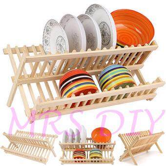 Harga MRS DIY PLATE RACK - WOODEN DISH RACK