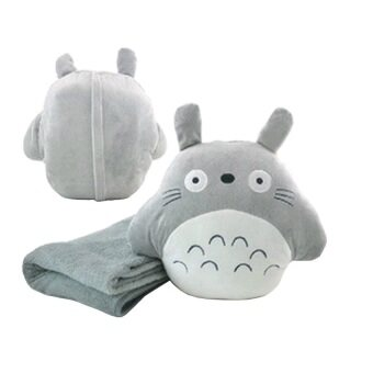 Harga Multipurpose 3 in 1 Totoro Hand Warmer Pillow and Large Blanket - Round