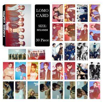 Harga GOT7 Shopping Mall Never Ever Album Kpop LOMO Cards New Fashion Self Made Paper Photo Card HD Photocard LK463