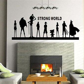 Harga LZ Wall Decal Mural Sticker Anime Manga Poster Girl Naruto Final Fantasy Hero One Piece Quote Sign Words (Black)