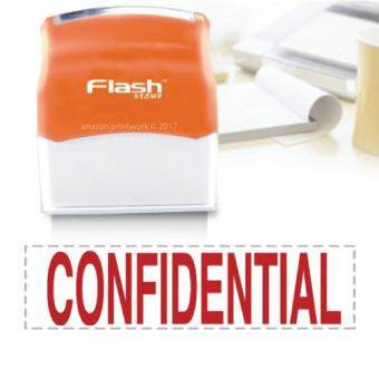 Harga READY MADE FLASH STAMP (CONFIDENTIAL) RED INK