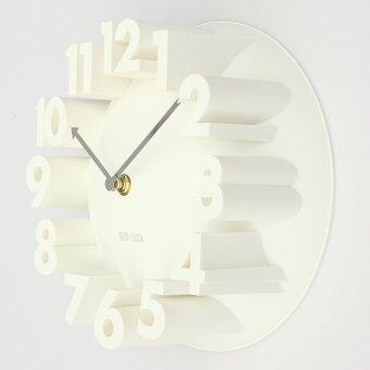 Harga 3D Number Dome Round Wall Clock Watch Bell Home Modern Art Decor White